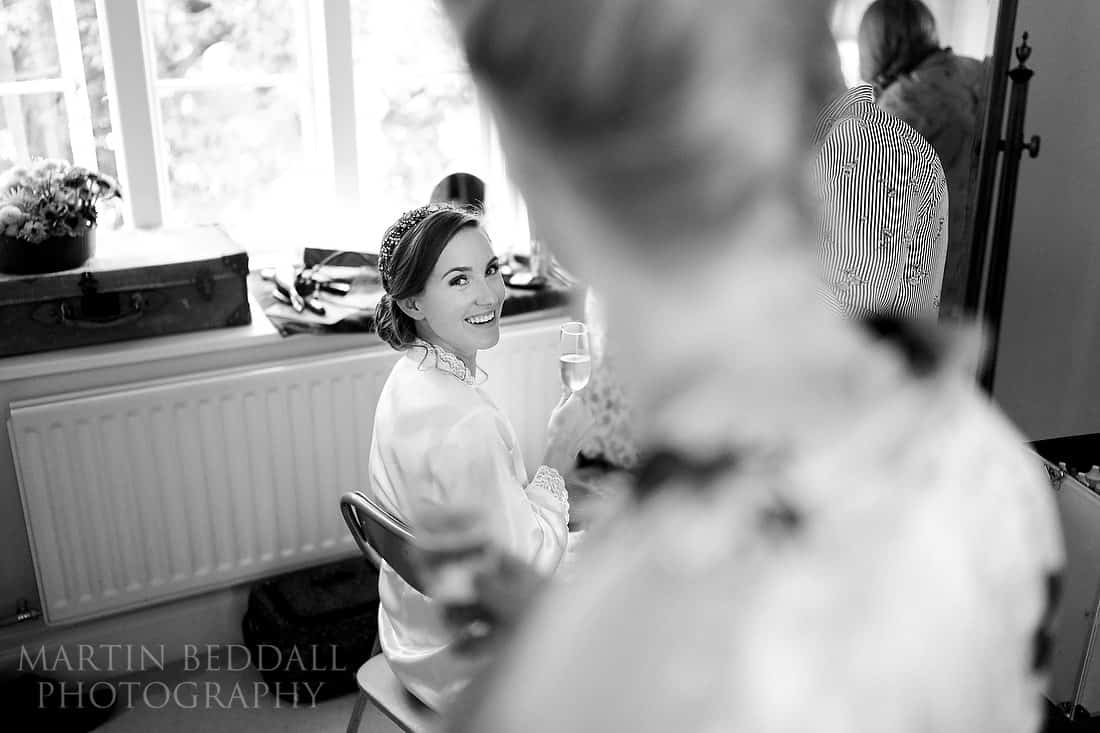 Bride chats with her sister
