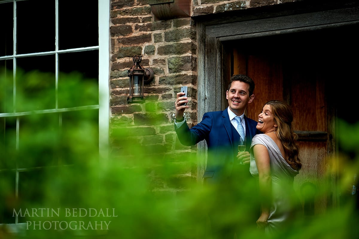 Selfie at Hereford wedding
