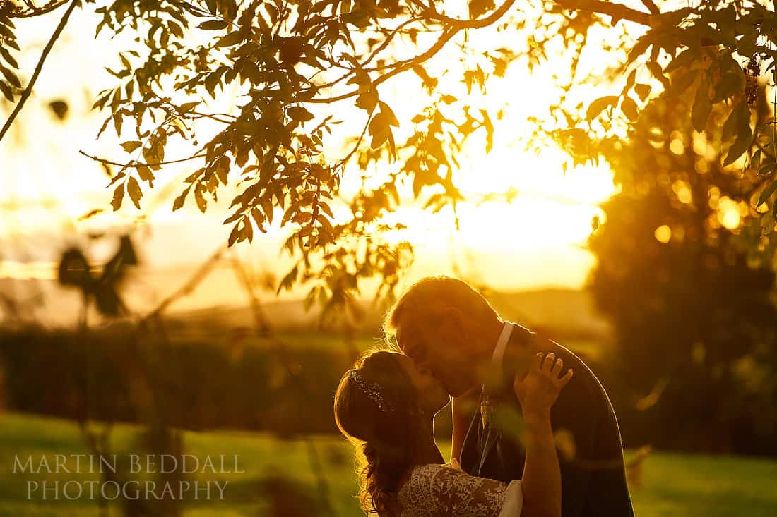 Sunset portrait at Hereford wedding