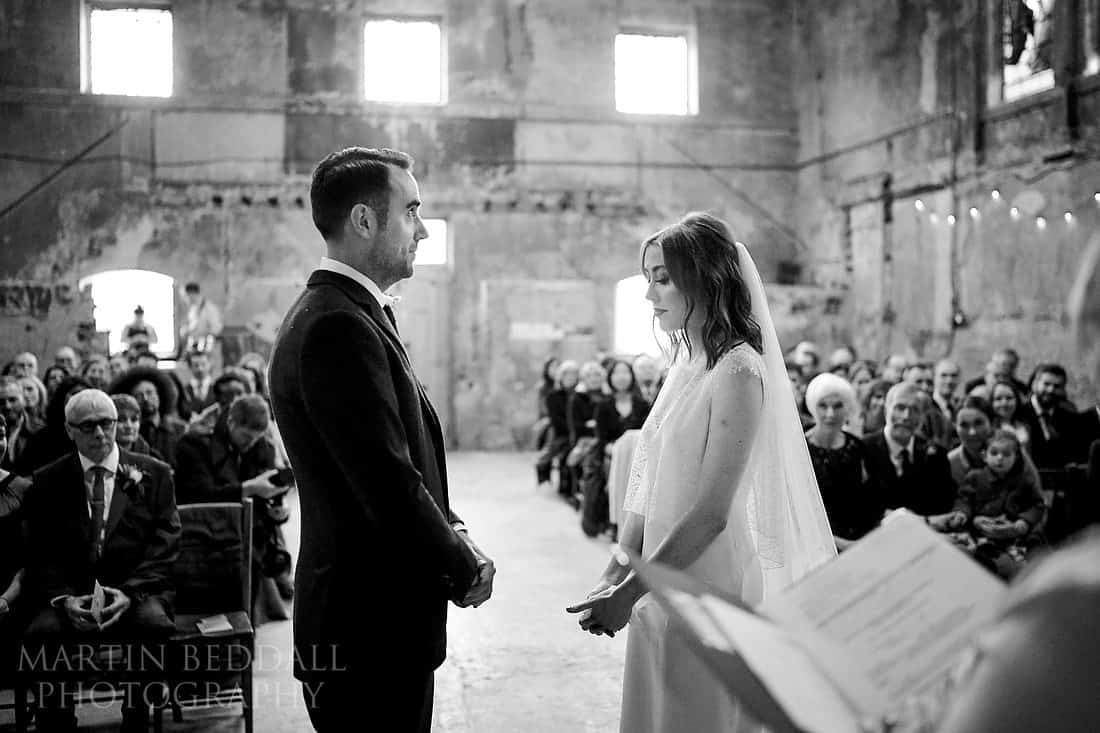 Wedding ceremony at Asylum chapel in London