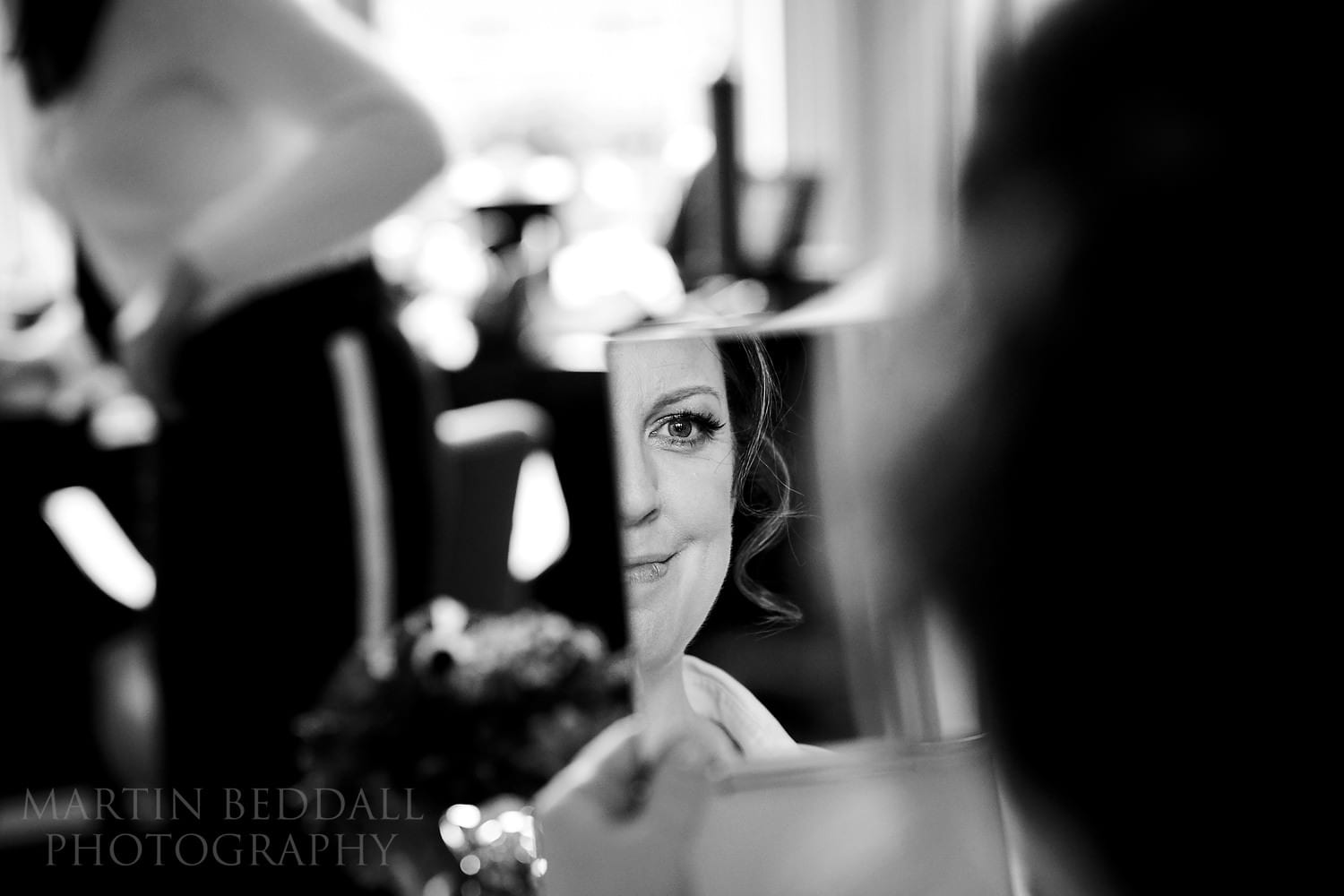 Bride getting ready in Claridges hotel