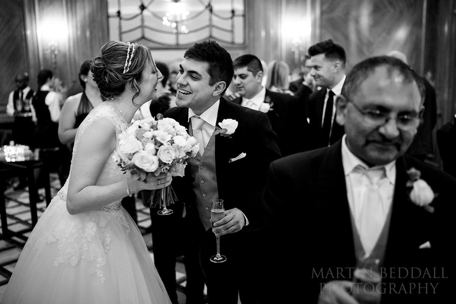 Bride greets groom's family