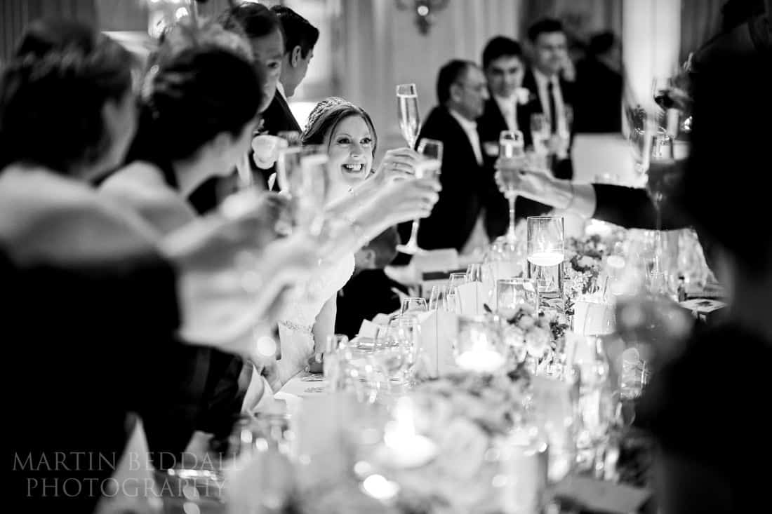 Wedding toast at Claridges