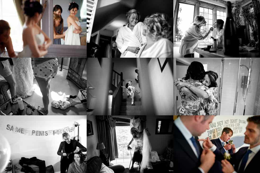 Reportage wedding photography getting ready images