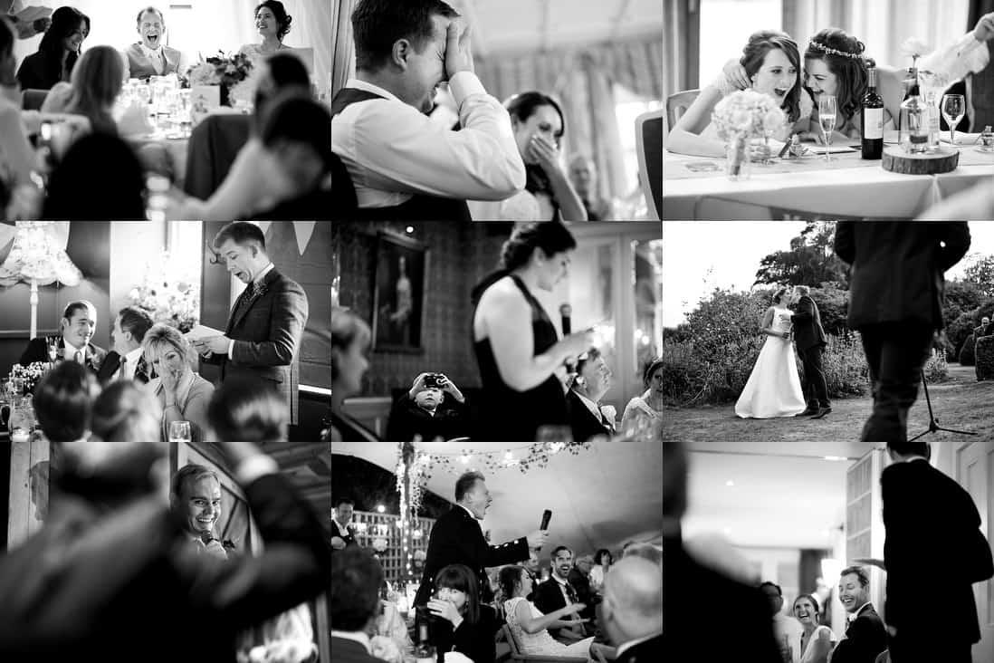 Reportage wedding photography speeches