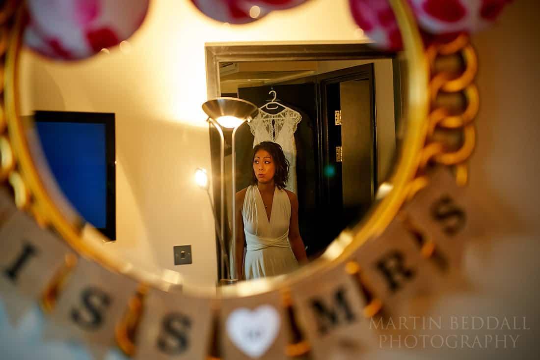 Bridesmaid in the mirror