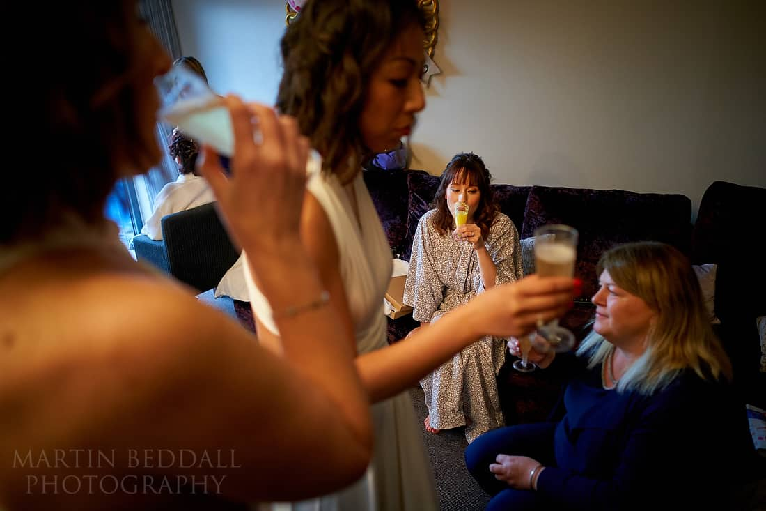 A drink for the bride