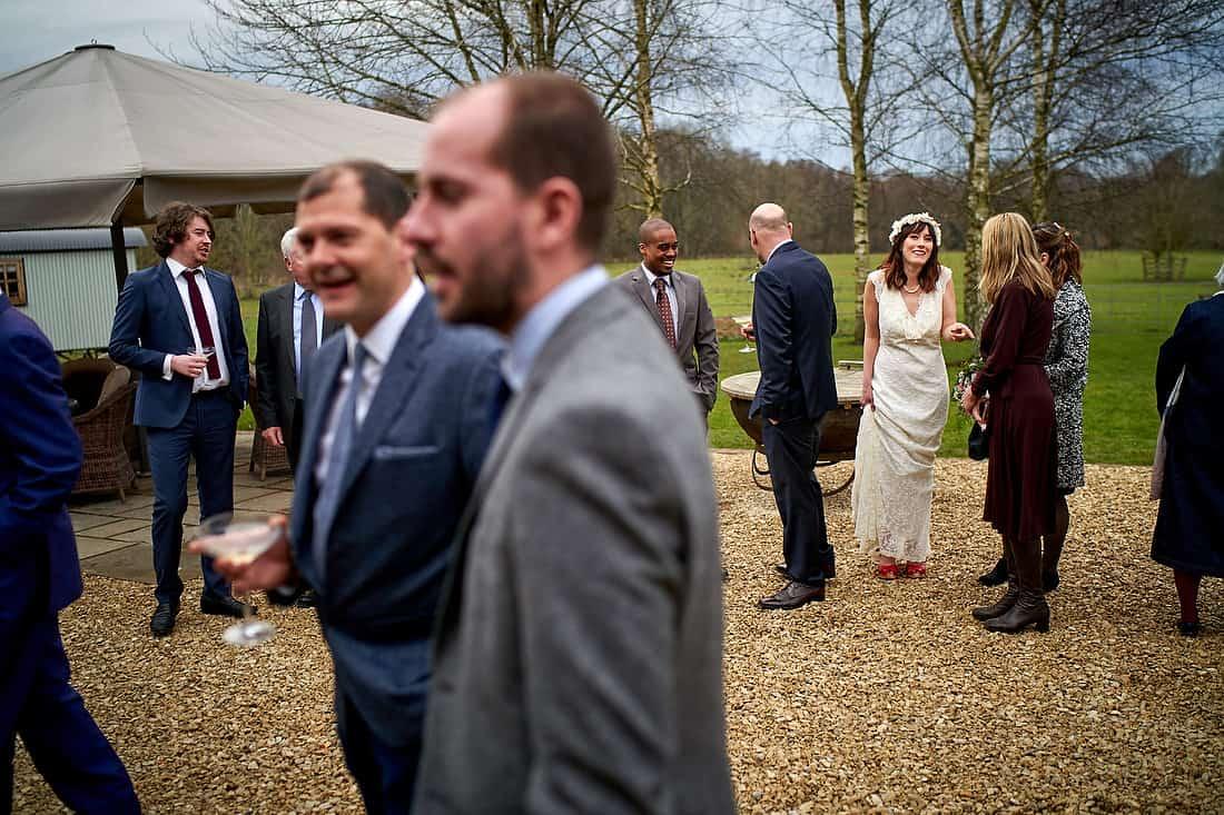 Wedding reception at Gate Street Barn
