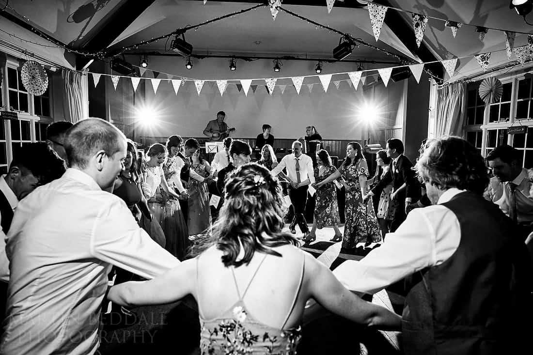 Sussex wedding ceilidh at Iford village hall