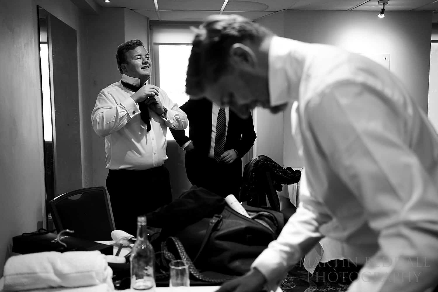 Groom prep with the Sony 35mm F1.8 lens