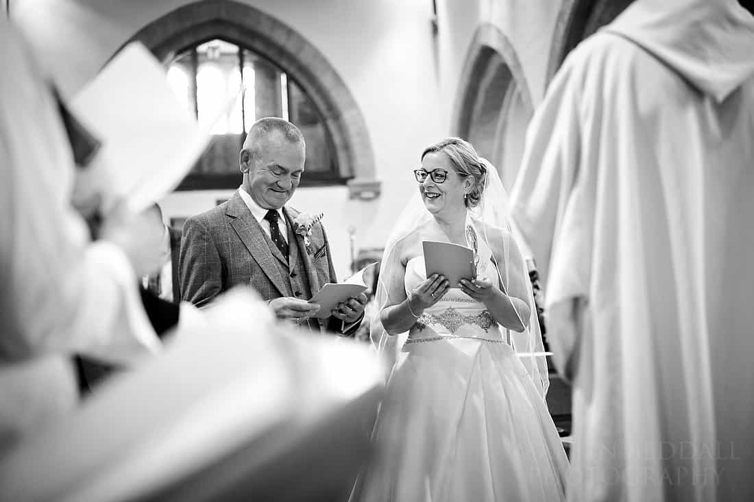 Smiles during the wedding ceremony