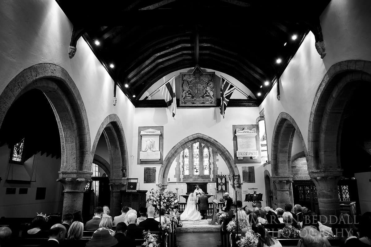 All Hallows church wedding ceremony
