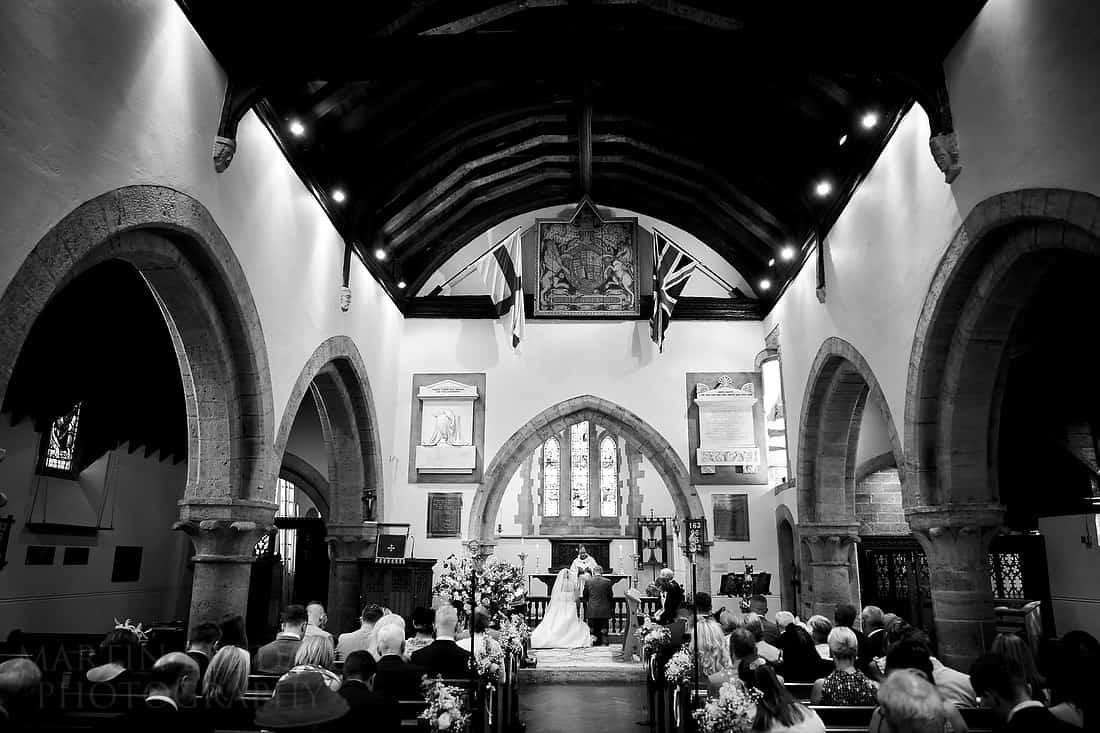 wedding at Tillington church in Sussex