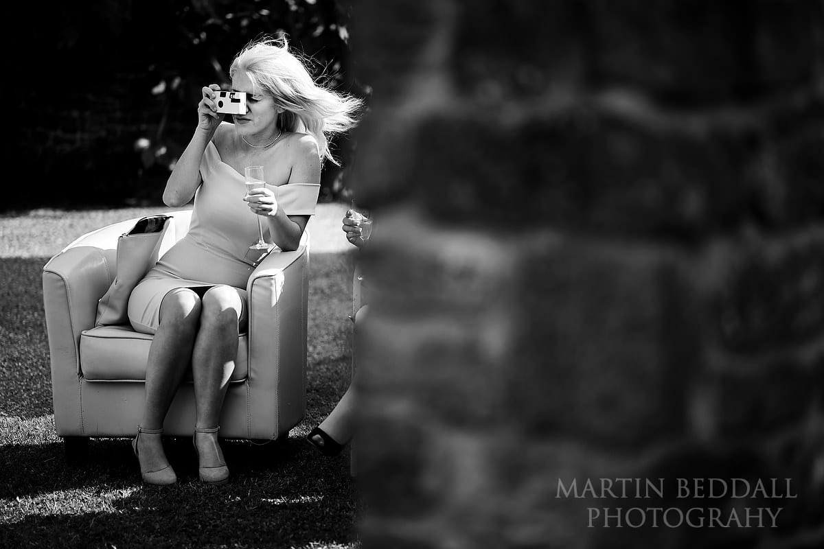 Guest with a camera at Grittenham Barn