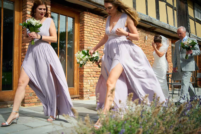 Heading to the wedding ceremony