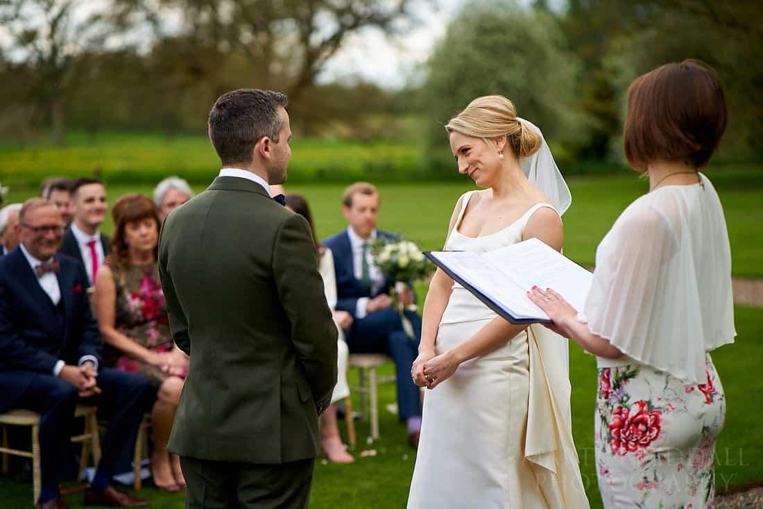Outdoor wedding at Iscoyd Park
