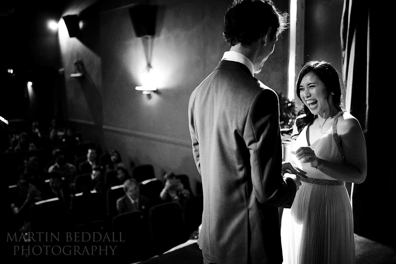 Wedding ceremony in a cinema with the Sony 35mm F1.8 lens