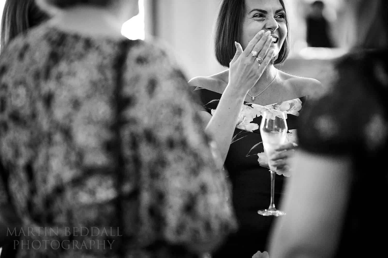 Indoor wedding reception with a Sigma 105mm f1.4 lens