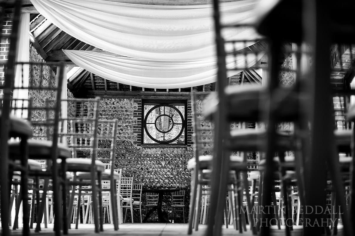 Wet wedding at Cissbury Barns