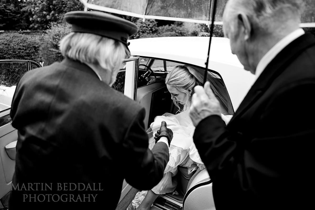 Bride arrives at Cissbury