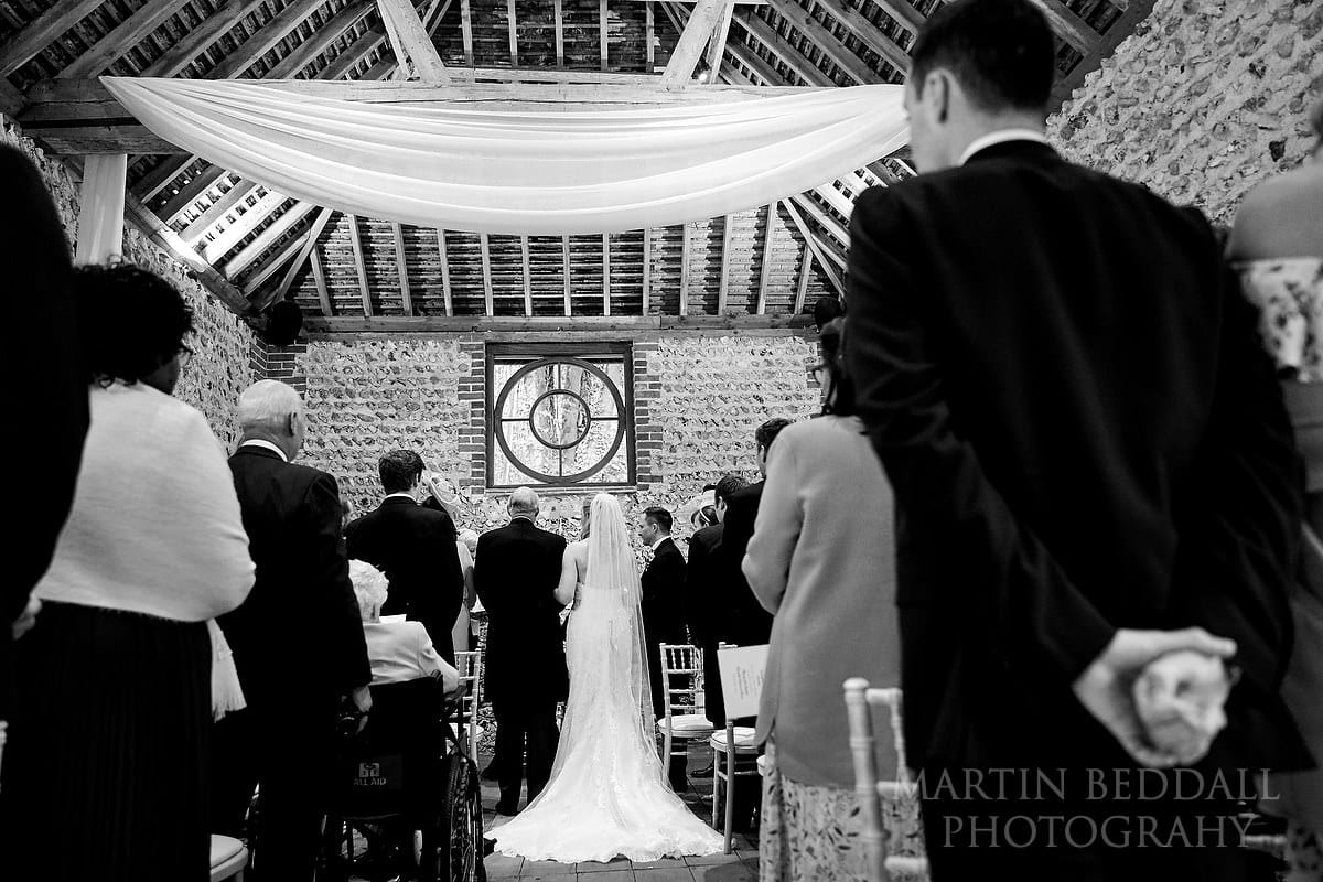 Cissbury Barns wedding ceremony