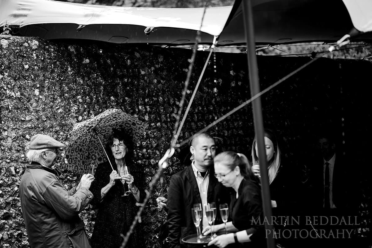 Soggy wedding at Cissbury Barns