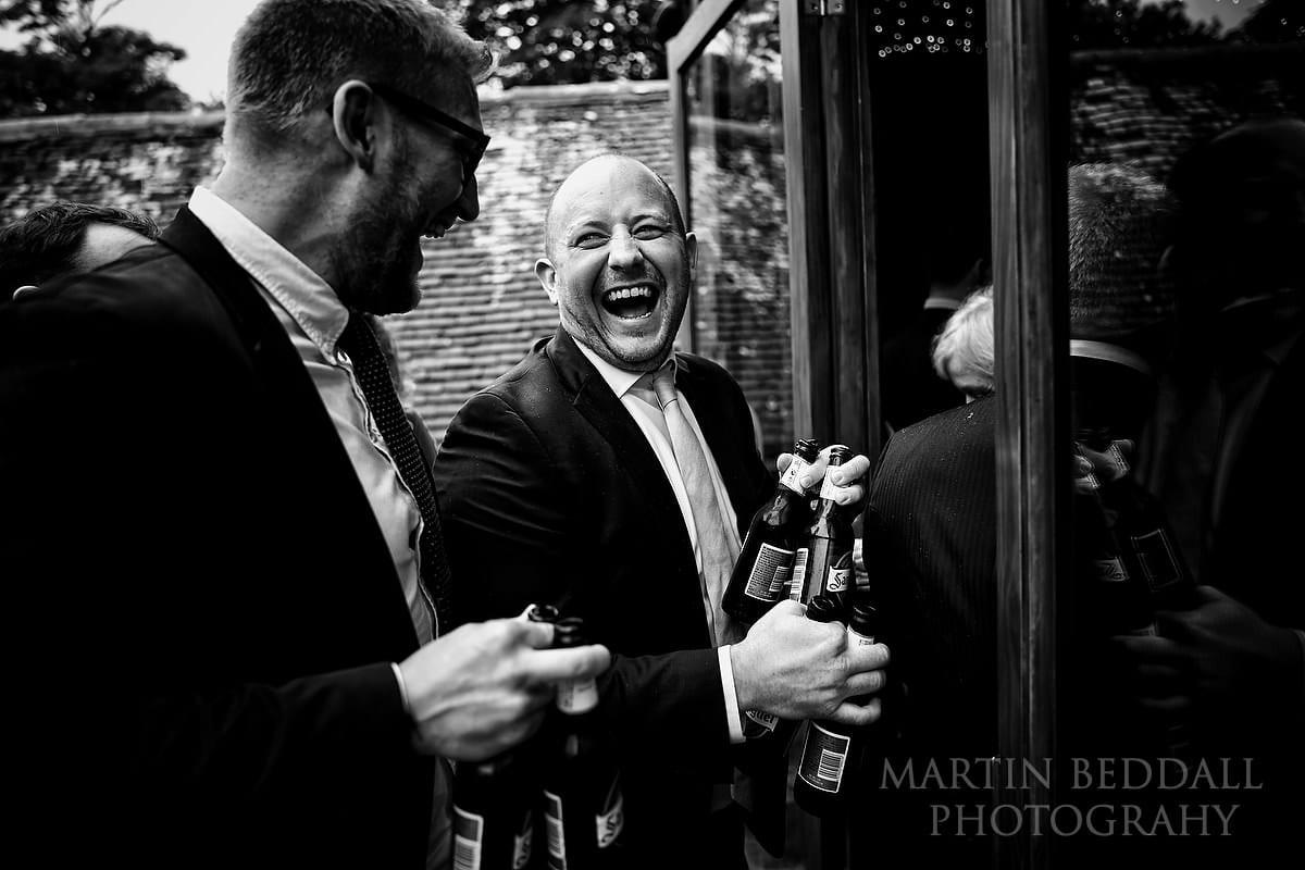 Laughter at Cissbury Barns wedding
