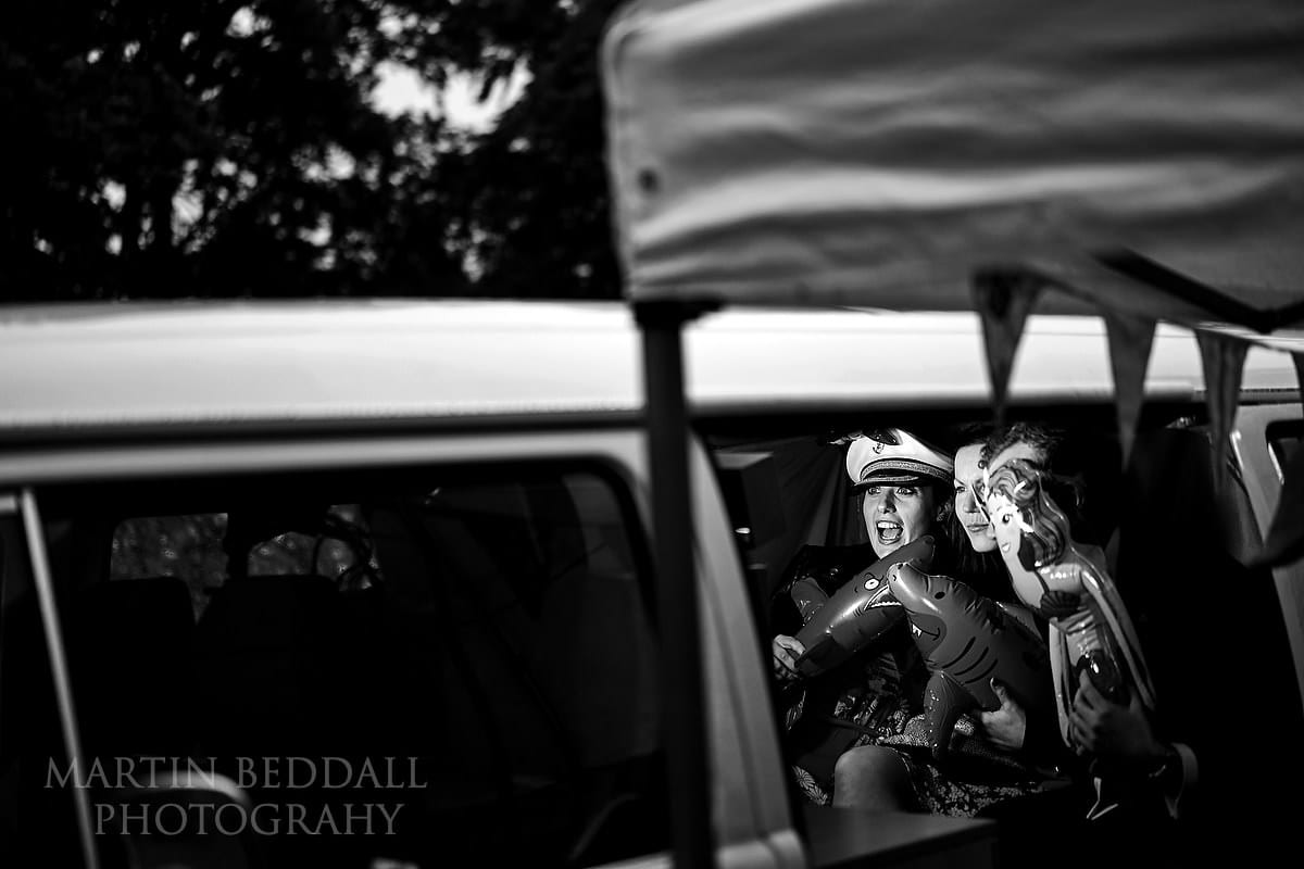 Photo booth in a camper van at Cissbury Barns