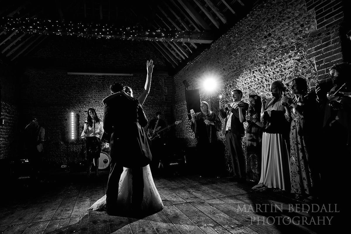 First dance at Cissbury Barns