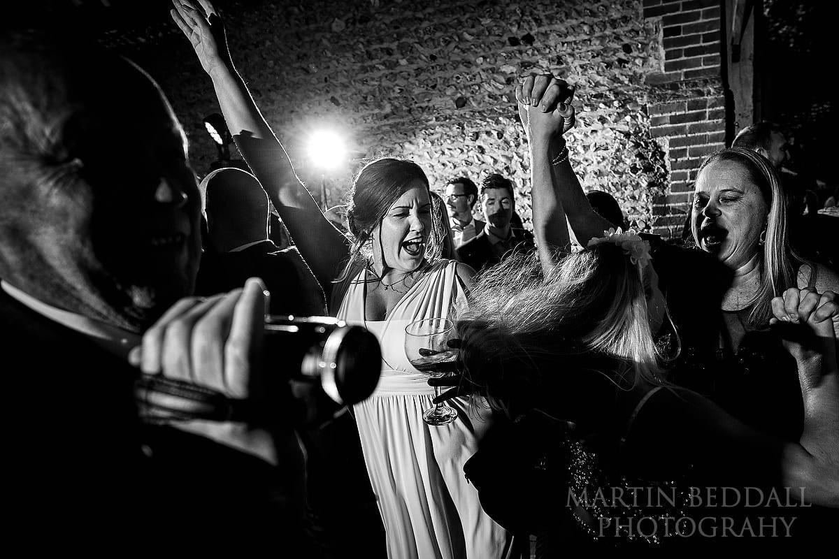 Cissbury Barns wedding party