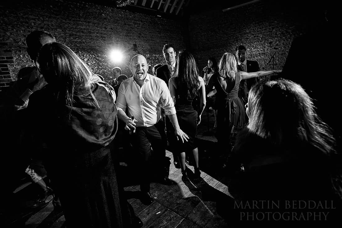 Wedding dancing at Cissbury Barns