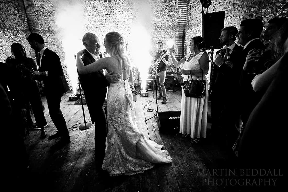 Bride and her father dance