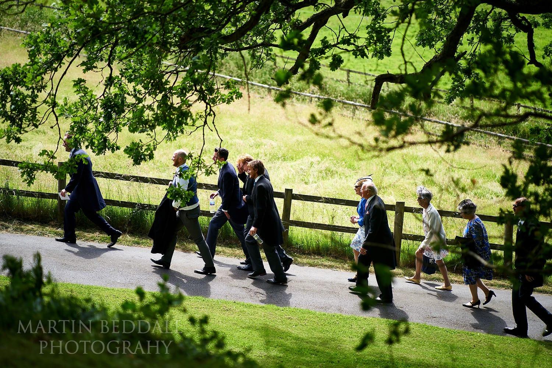 Buckhurst Park guests head to St Michael's church