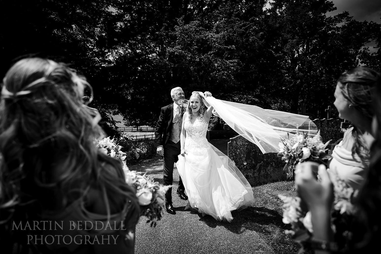 Bride arrives at St Michael's church