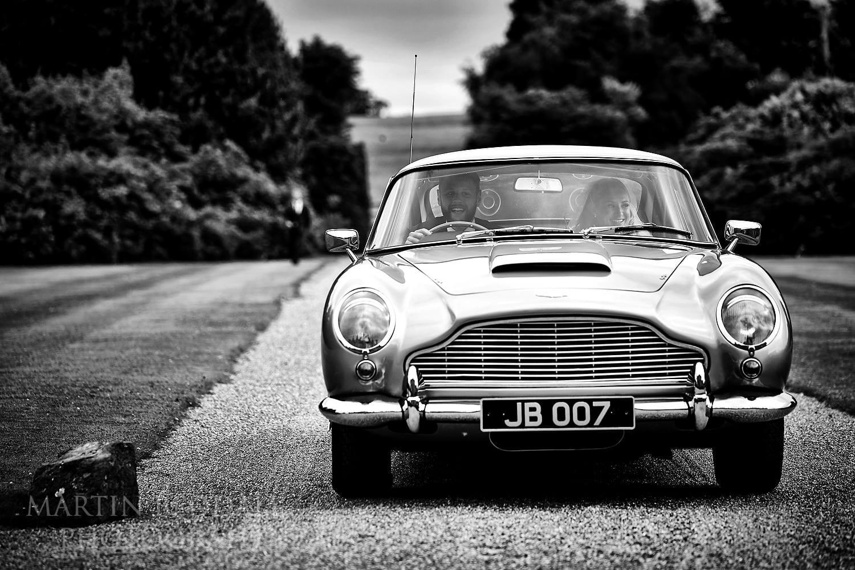 Groom drives 007 car