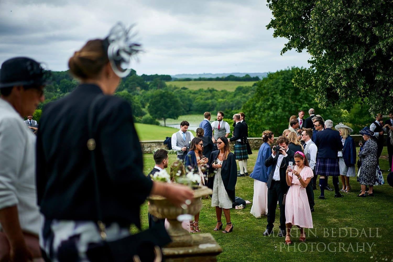 Wedding reception on the terrace at Buckhurst Park