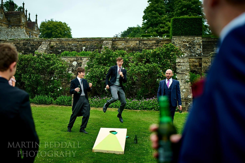 Games at Buckhurst Park wedding