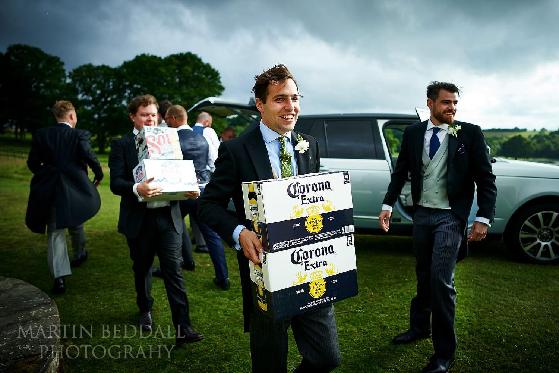 More beer supplies at Buckhurst Park wedding