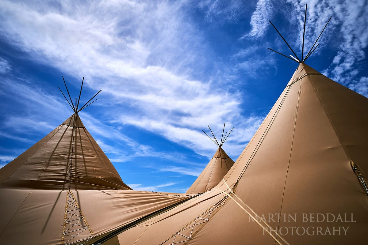 Tipis in The Party Field