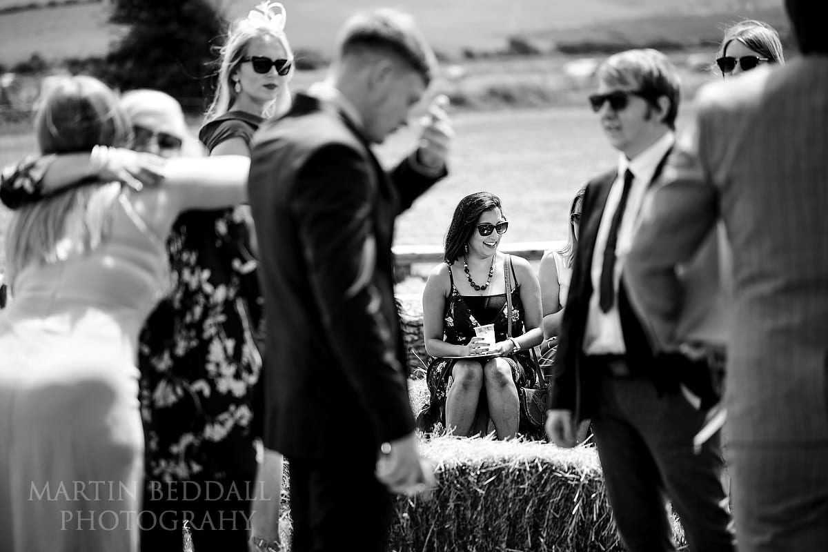Wedding guests arrive at The Party Field