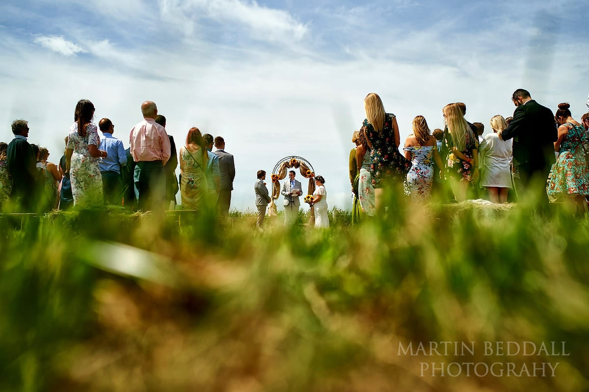 The Party Field wedding ceremony