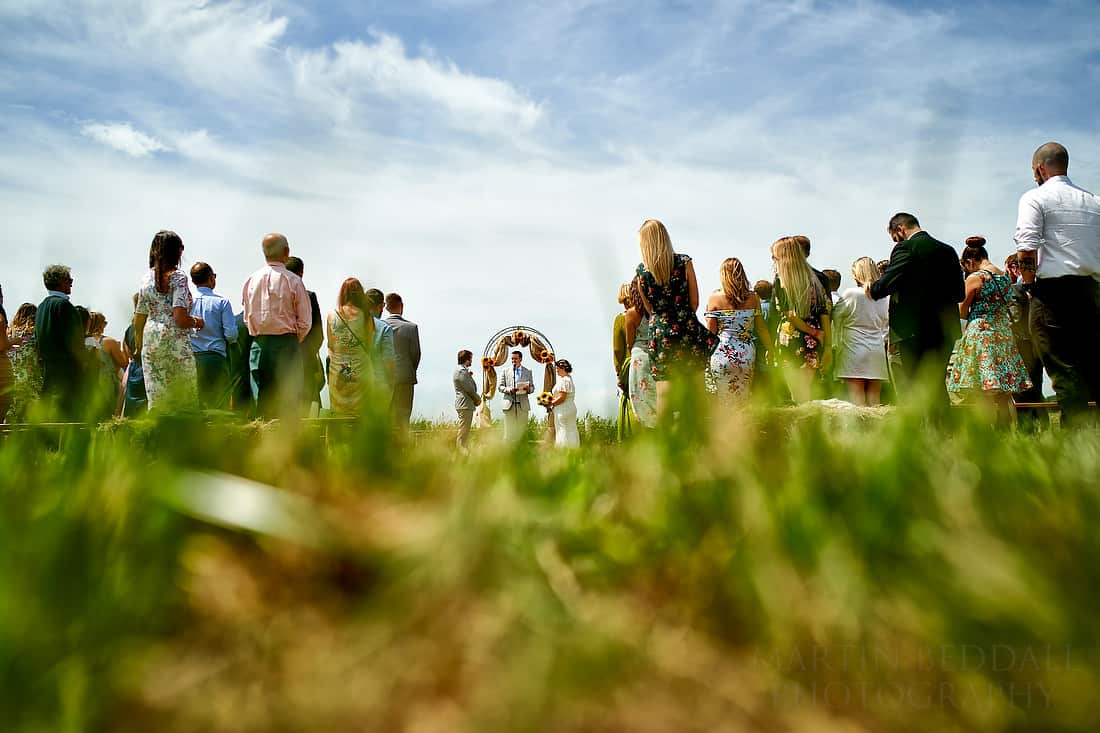 Part Field wedding ceremony