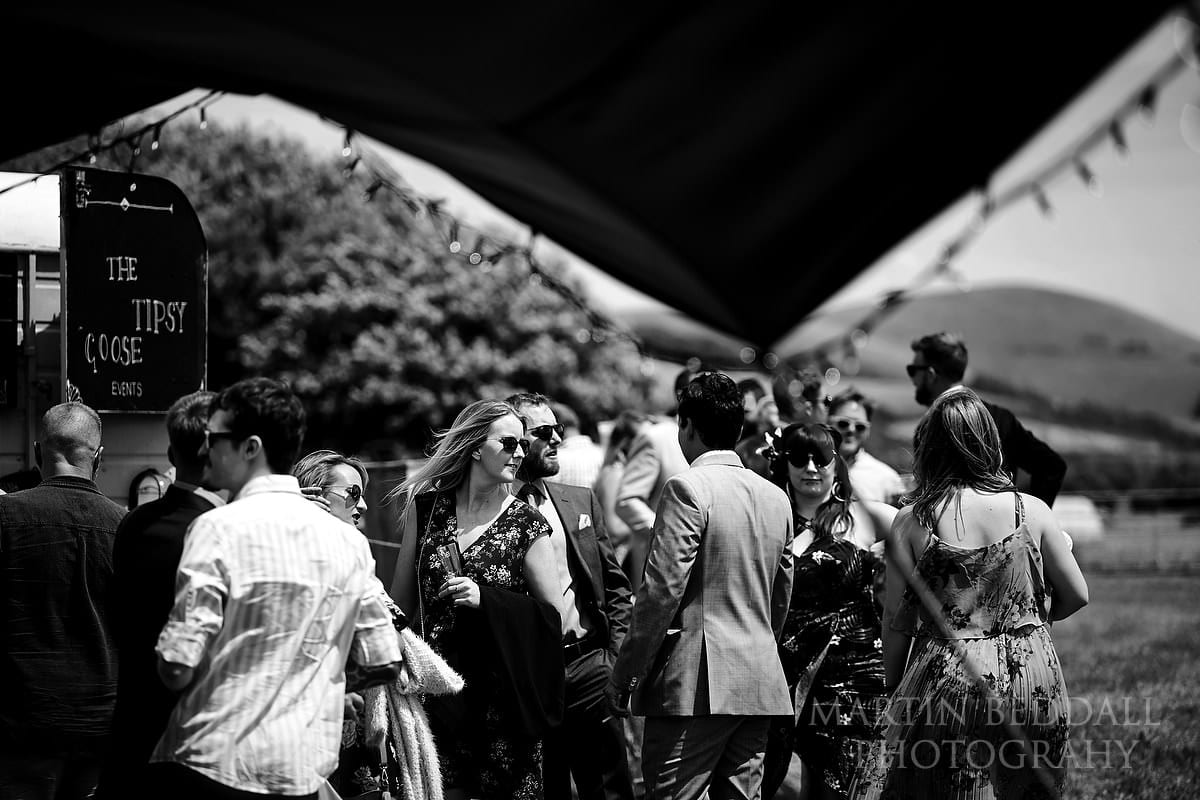 Wedding guests at The Party Field