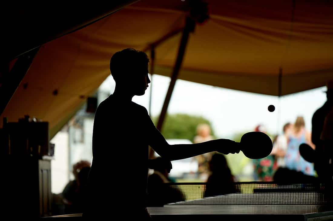 table tennis in the tipi