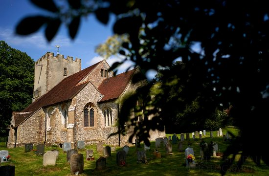 Sussex village wedding at Singleton church