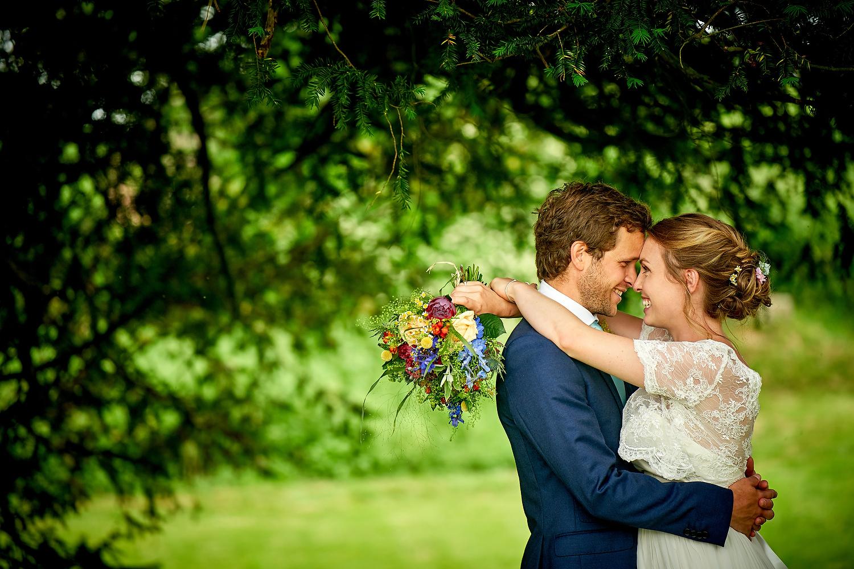 Sussex village wedding couple portrait