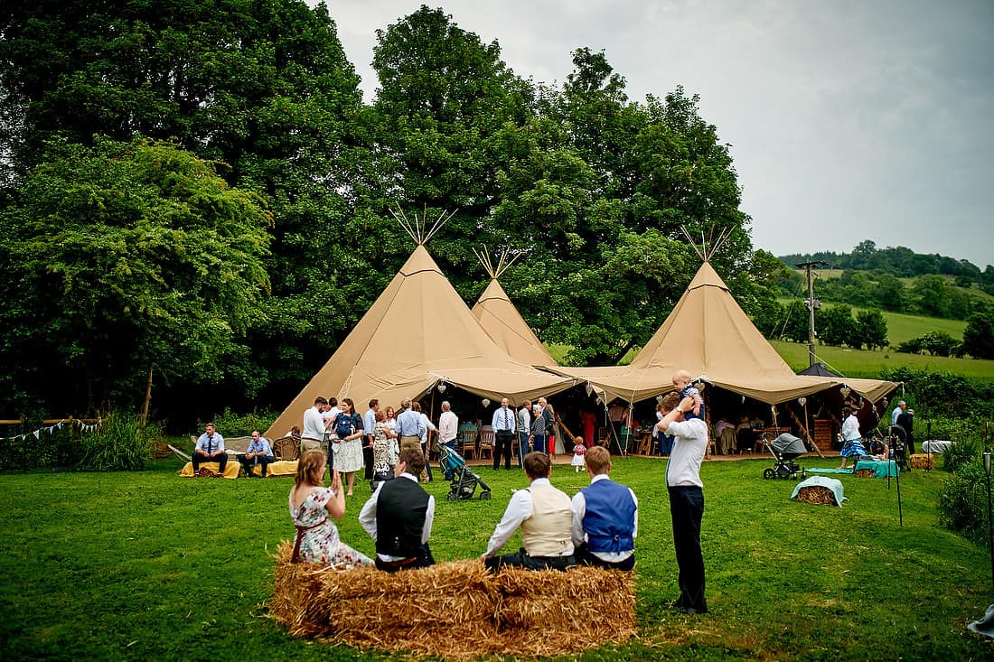 wedding tipi in the field