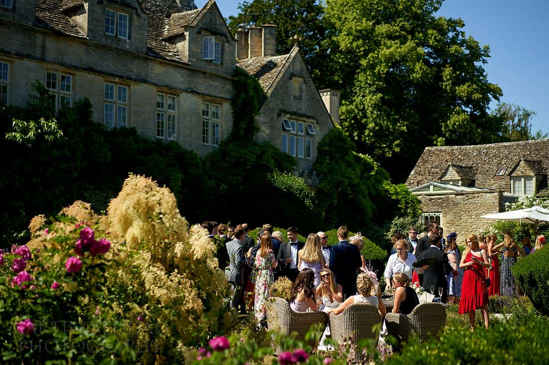 Barnsley House wedding reception