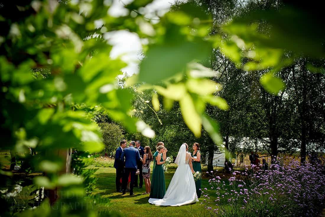 wedding reception in the garden