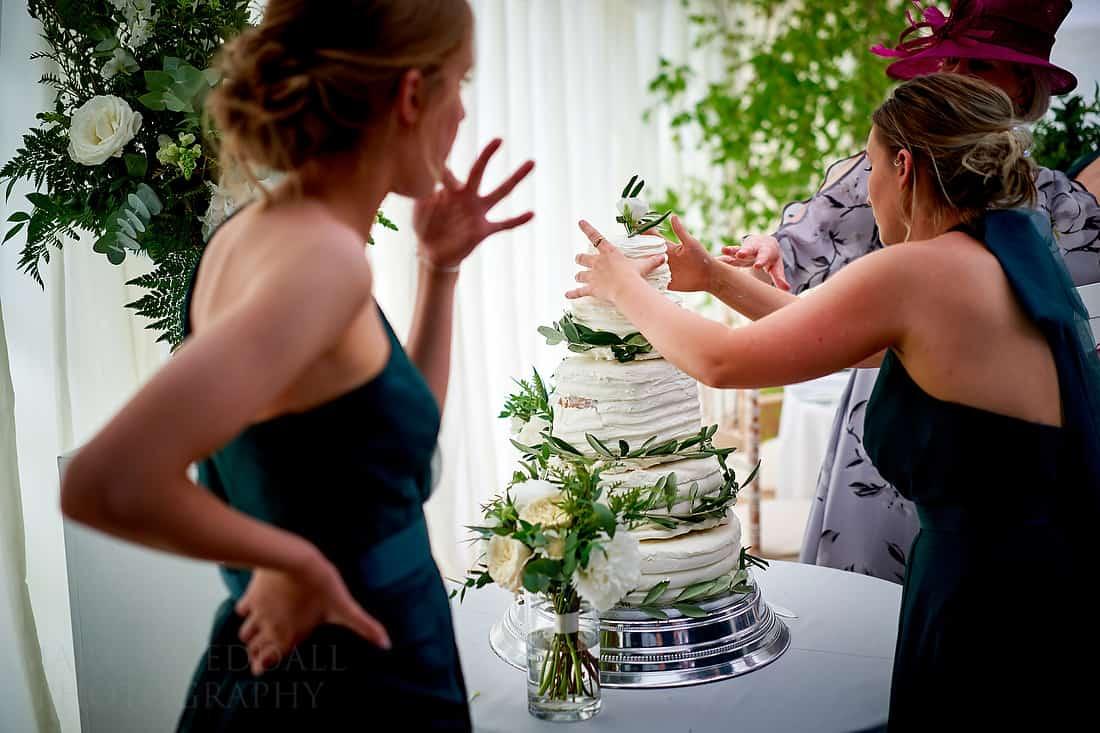 building the wedding cake